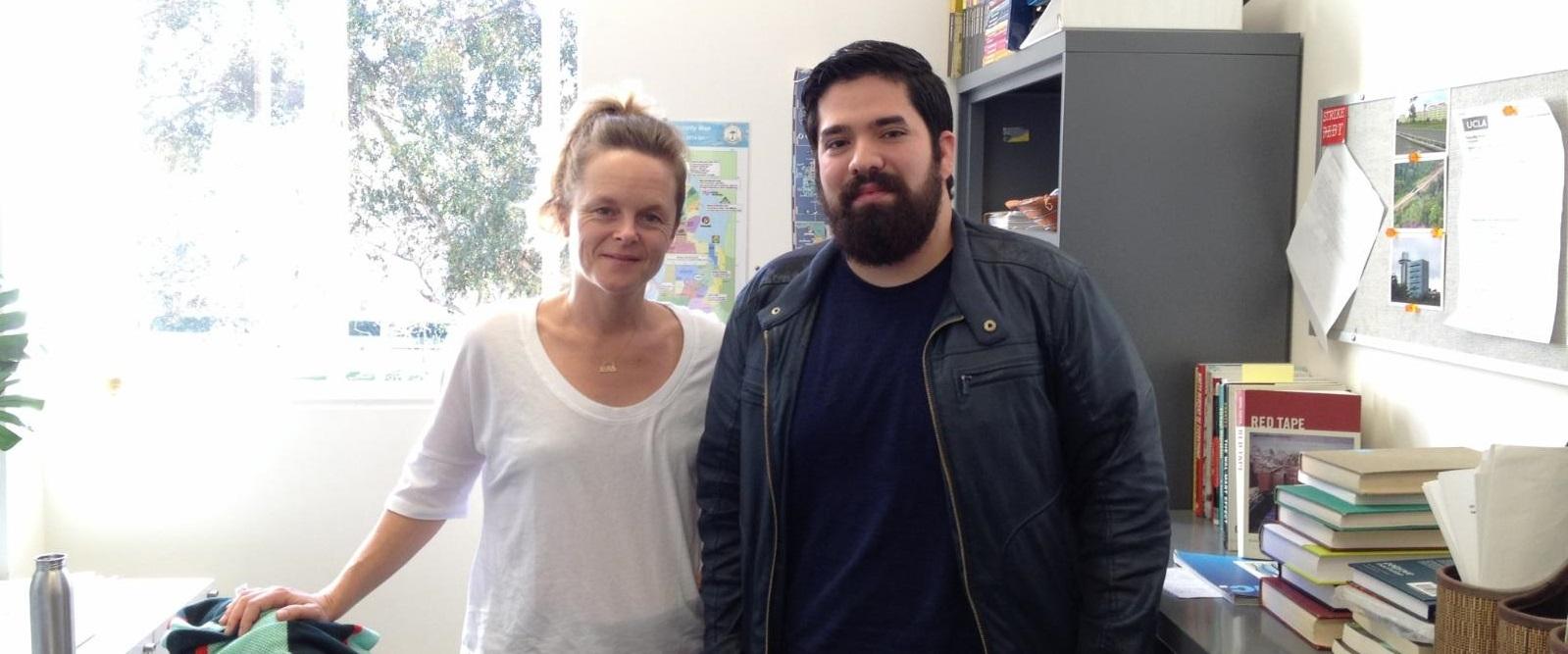 URC-HASS Student Felipe Huicochea with Faculty Mentor Hannah Appel